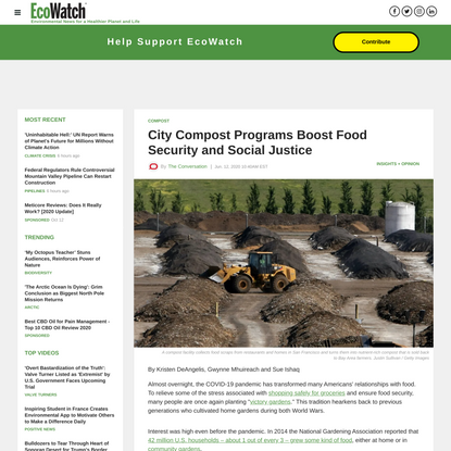 City Compost Programs Boost Food Security and Social Justice
