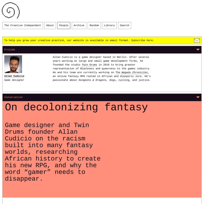 On decolonizing fantasy