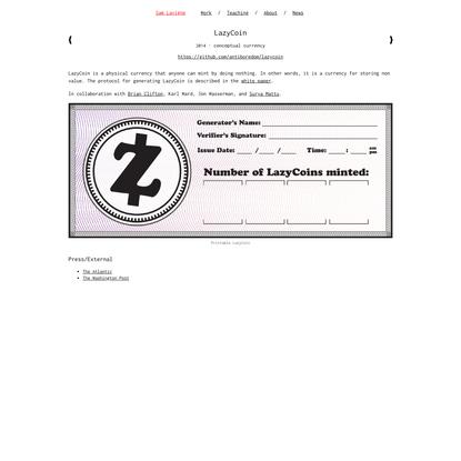 LazyCoin