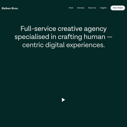 BB Agency - Human Experience Design and Development Agency