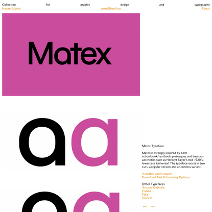 Matex - Hanzer Liccini
