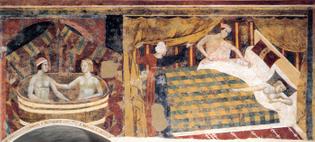 Memmo di Filippuccio, Erotic scenes, 1300-10