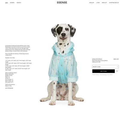 Moncler Genius - Blue Poldo Dog Couture Edition Waterproof Coat