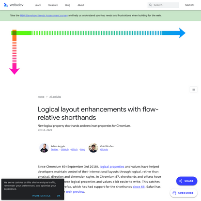Logical layout enhancements with flow-relative shorthands