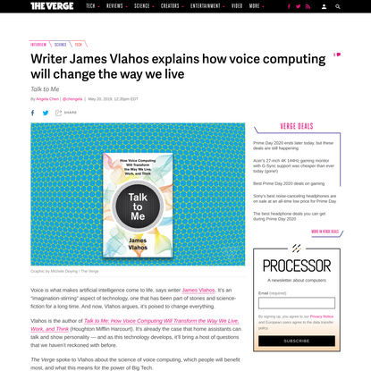 Writer James Vlahos explains how voice computing will change the way we live