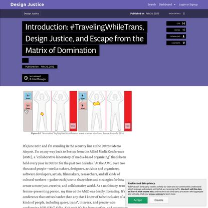 Introduction: #TravelingWhileTrans, Design Justice, and Escape from the Matrix of Domination · Design Justice