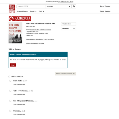How China Escaped the Poverty Trap on JSTOR
