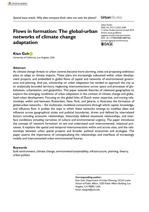 Flows in formation: The global-urban networks of climate change adaptation, by Kian Goh Kian Goh [.pdf]
