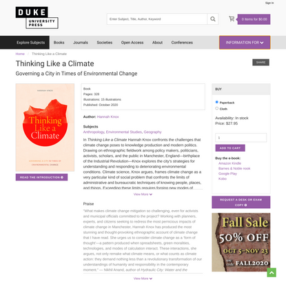Duke University Press - Thinking Like a Climate