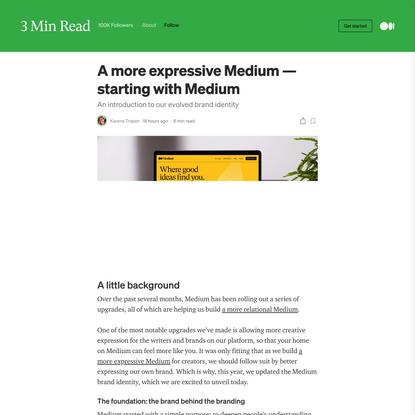 A more expressive Medium—starting with Medium