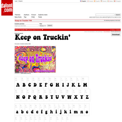 Keep on Truckin' FW Font | dafont.com