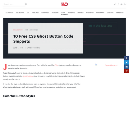 10 Free CSS Ghost Button Code Snippets - 1stWebDesigner