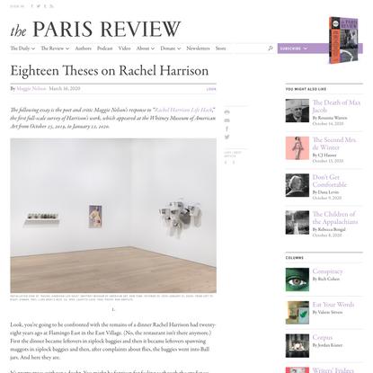 Eighteen Theses on Rachel Harrison