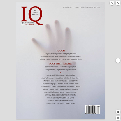 The Indian Quarterly - July - December 2020 Digital Magazine from Magzter - World's Largest Digital Newsstand