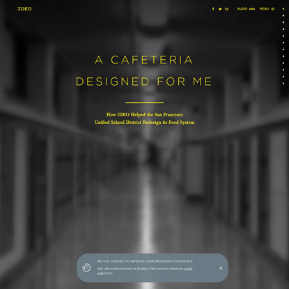 IDEO's SFUSD School Lunch Project