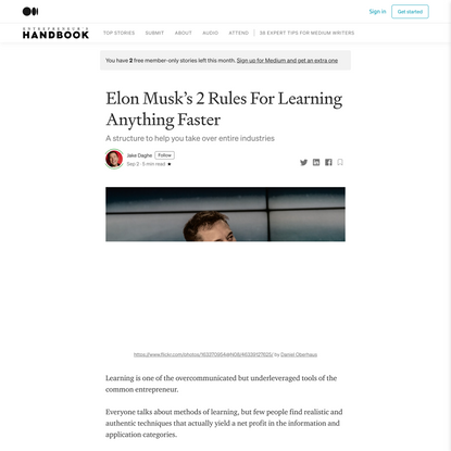 Elon Musk's 2 Rules For Learning Anything Faster