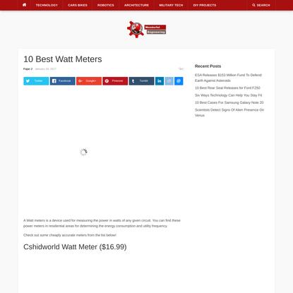 10 Best Watt Meters