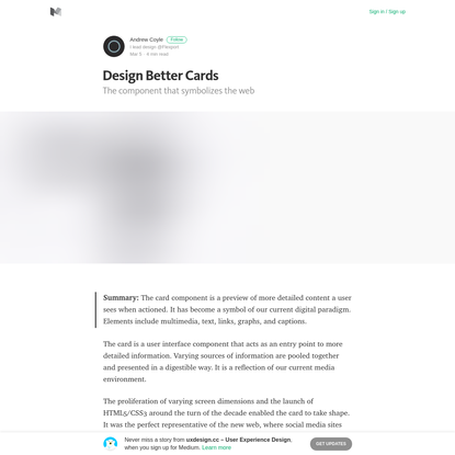 Design Better Cards