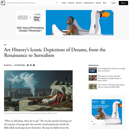 Art History's Iconic Depictions of Dreams, from the Renaissance to Surrealism