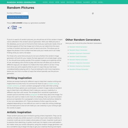 Random Pictures — 1000+ Random Images
