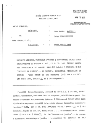 Jerome Henderson's Motion to Withdraw Previously Appointed Counsel.pdf