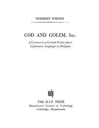 God and Golem - Norbert Wiener