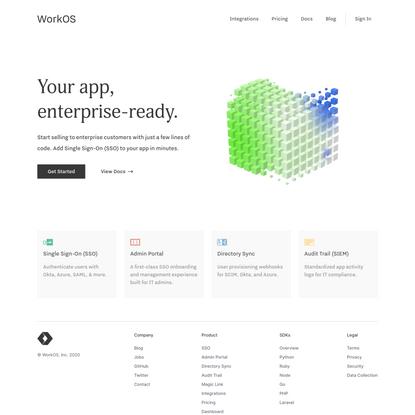 WorkOS | Your app, enterprise-ready.