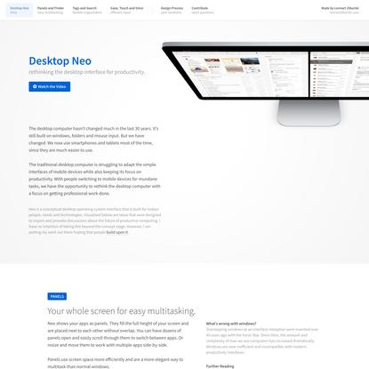 Desktop Neo – rethinking the desktop interface for productivity.
