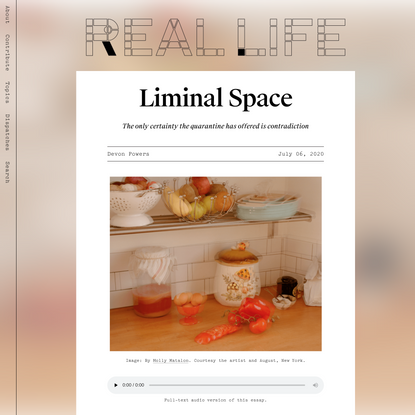 Liminal Space — Real Life