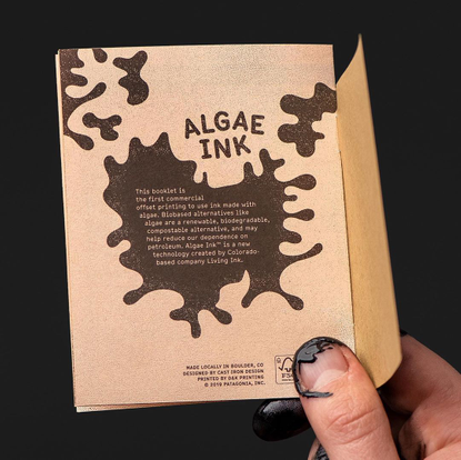 "Mohawk on Instagram: """"Algae-based ink is significant because it replaces the petroleum-based pigments used in conventional ..."