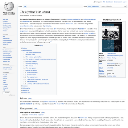 The Mythical Man-Month - Wikipedia