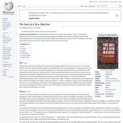 The Soul of a New Machine - Wikipedia