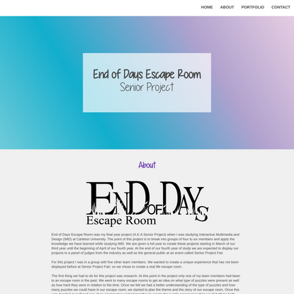 Britt Riley Design | End of Days Escape Room