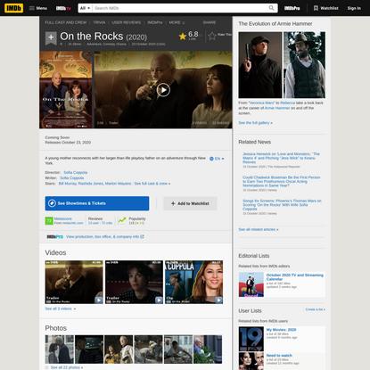 On the Rocks (2020) - IMDb