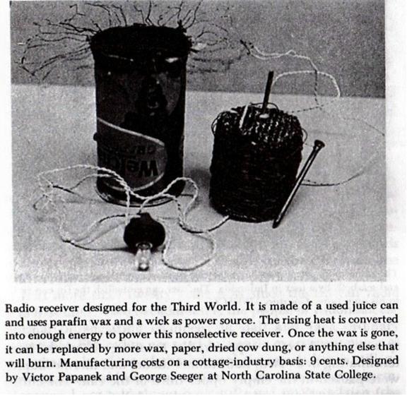 Tin can radio