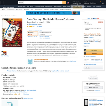 Spice Sorcery : The Kutchi Memon Cookbook