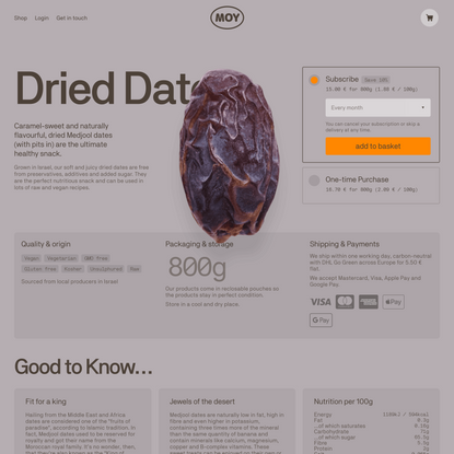 Dried Dates – MOY