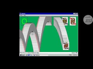 Windows 98 Simulator Solitaire End Screen