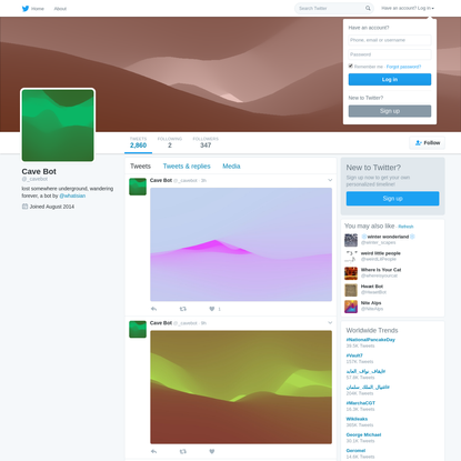Cave Bot (@_cavebot) | Twitter