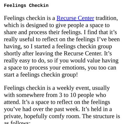Feelings Checkin