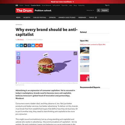Why every brand should be anti-capitalist
