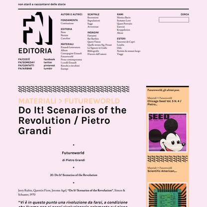 Do It! Scenarios of the Revolution / Pietro Grandi