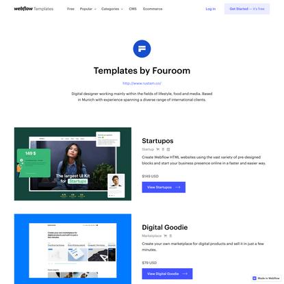 Website Templates by Fouroom | Webflow