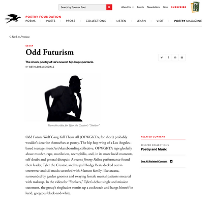 Odd Futurism by Bethlehem Shoals | Poetry Foundation