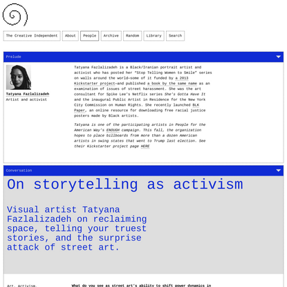On storytelling as activism