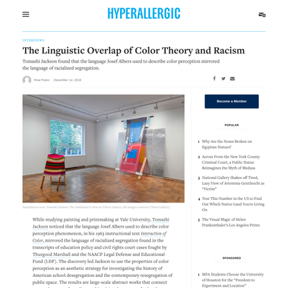 The Linguistic Overlap of Color Theory and Racism