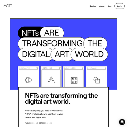 NFTs are transforming the digital art world. | Foundation