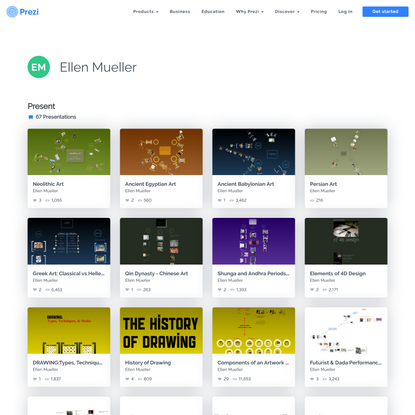 Profile Page for Ellen Mueller | Prezi