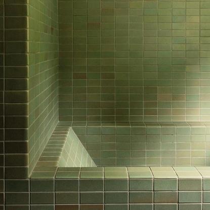 Monotone green tile
