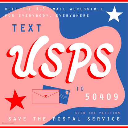 "emily page's Instagram post: ""Text USPS to 50409! They will send a letter to your state officials asking to save the Post Of..."